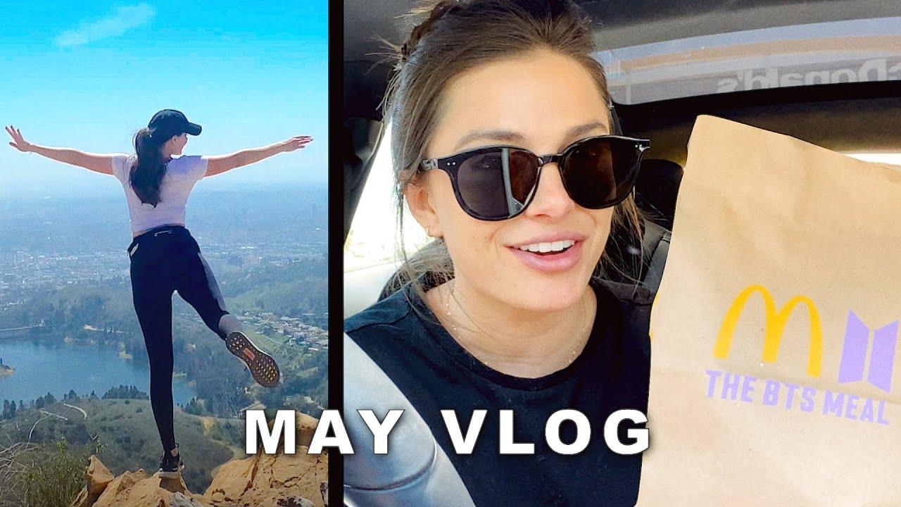 Random May Vlog | LA Hiking, Work, BTS things, Travel 💜