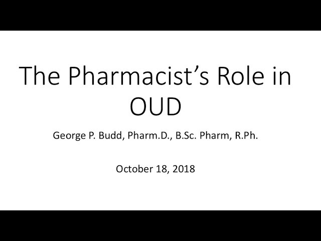 Coaching Call 9- The Pharmacy Role in OAT:  Improving Outcomes Through Better Communication