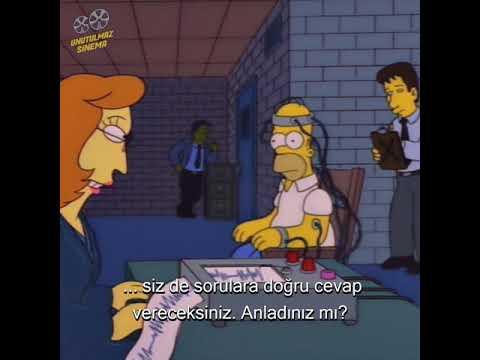 Homer Simpson'ın yalan makinesi ile imtihanı