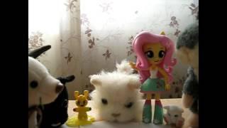 Снежинка и Флаттершай у нас в гостях / VLOG Вольта / мультфильм с игрушками про котёнка
