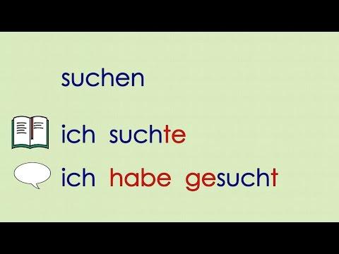 Deutsch lernen Grammatik 20: ich kaufte ...  Verben Vergangenheit (Präteritum)