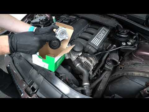 E90 N52 BMW Accessory Serpentine Drive Belt And Tensioner Removal And Installation DIY
