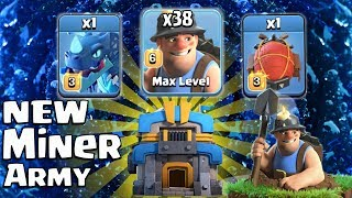 New TH12 Miner Electro Battle Blimp Attack Strategy 2018! New Miner Electro Clone Army 3star Th12