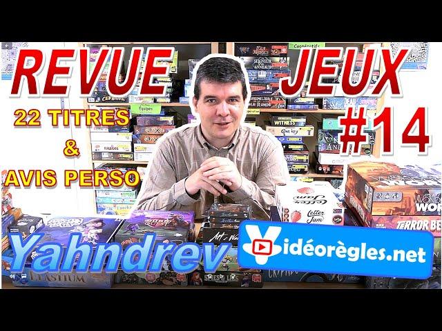 REVUE JEUX de Société #RJS2E14 par Yahndrev: 22 Titres et Avis Perso