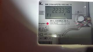 Як знімати показання з двотарифного лічильника Україна.НІК 2104 AP2TB.1802.MC.11