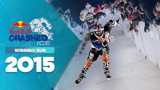 Red Bull: Cameron Naasz Winning DH Ice Cross Run - Red Bull Crashed Ice 2015