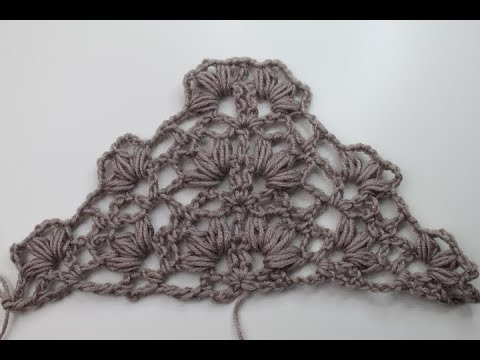 69. Tuch häkeln / Muster / Cloth Scarf - YouTube