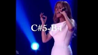 Celine Dion amazing c#5 note O holy night at Michael Buble