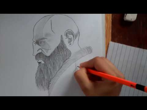 How To Draw Kratos God Of War Sketch with Detail Full Tutorial 2020 thumbnail