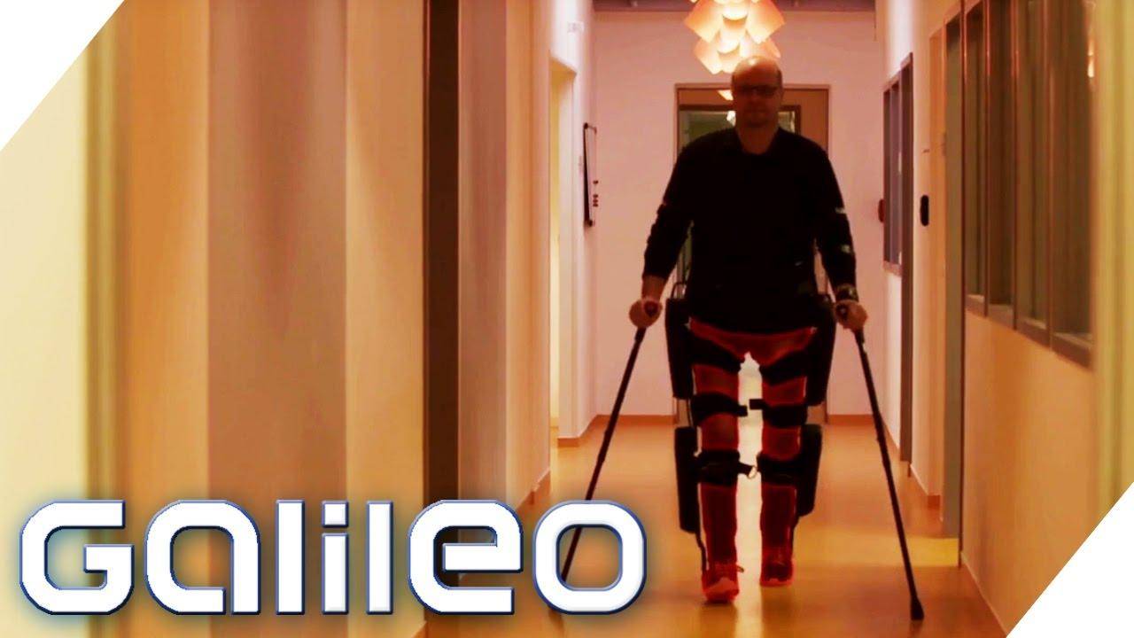 Exoskelett: dieser Mann mit Querschnittlähmung kann plötzlich wieder gehen | Galileo | ProSieben