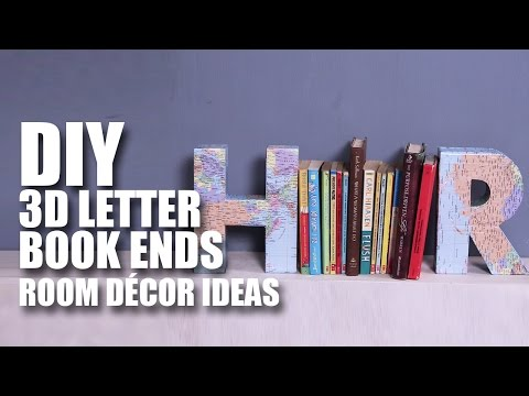 3D Letter Book Ends | Room Decor DIY | Mad Stuff With Rob