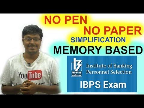 IBPS CLERK PRELIMS 2016 ( Memory Based )