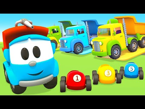 🔴🔴 Car cartoons for kids & Street vehicles for kids - Leo the Truck and cars for kids LIVE.