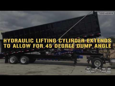 Globe Trailers: 75 Yard Dump Trailer Crook