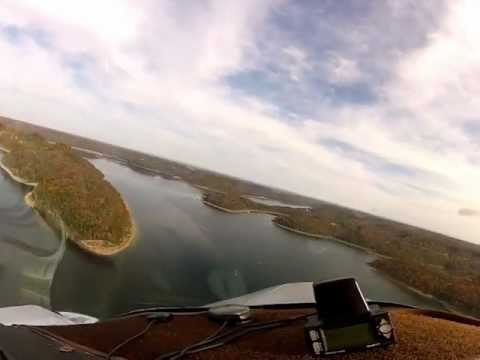 Flight in the Cessna 310 down Center Hill Lake