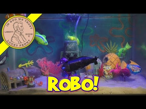 SpongeBob Aquarium, I Try PlastiMake, New Robo Fish!