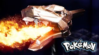 How To Make a Metal FIRE BREATHING Charizard Head