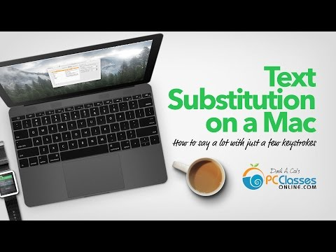 Text Substitutions on a Mac (or Text Shortcuts)