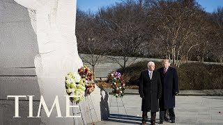President Trump Visits Martin Luther King Jr. Memorial | TIME