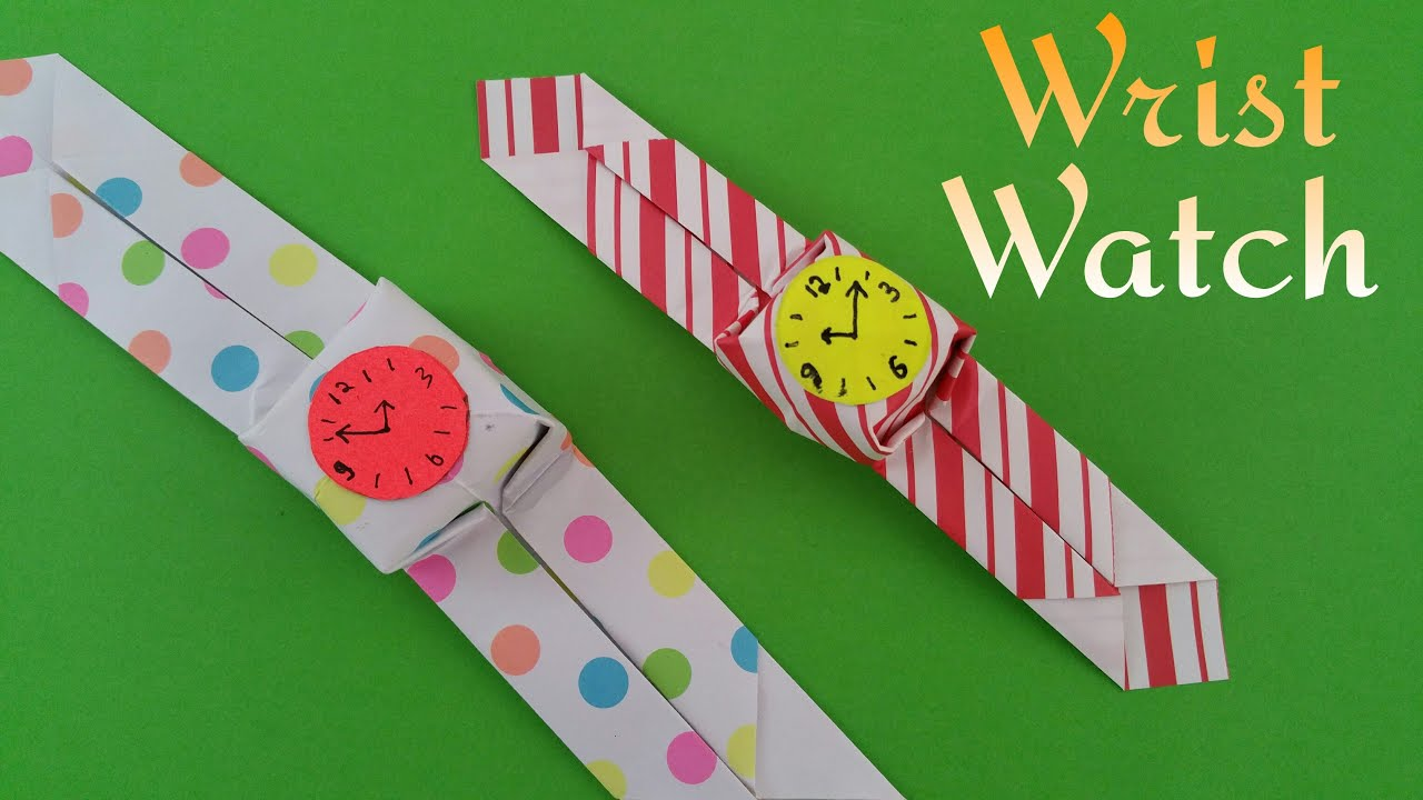 how to make a paper wrist watch � origami tutorial youtube