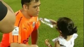 Virat Kohli's CUTE Video Playing With MS Dhoni's Daugther Ziva At Football Match