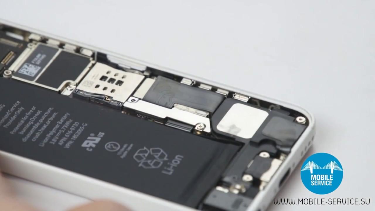 Самостоятельная замена аккумулятора iPhone 4S / Battery iPhone 4S .