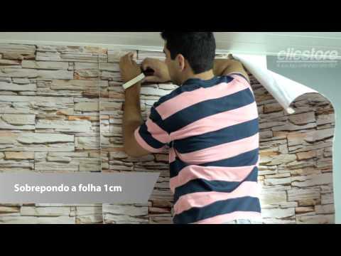 Tutorial Como Aplicar Papel de Parede Adesivo de Parede