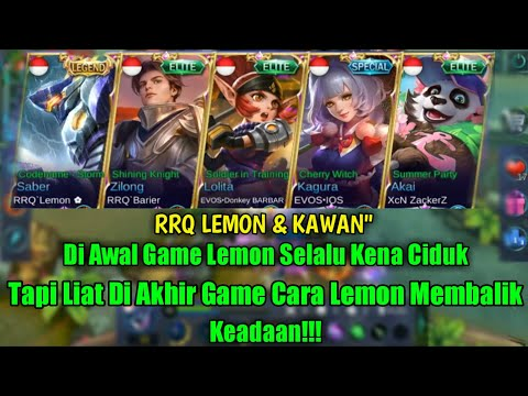SENGIT LAWAN SQUAD VOID DI RANKED MATCH LEMON BERKALI KALI KENA CIDUK- MOBILE LEGENDS
