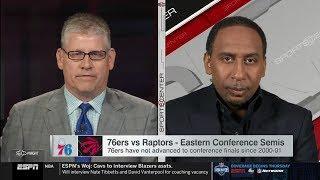 Stephen A. Smith on Eastern Conference Semis: 76ers vs Raptors; Celtics vs Bucks | NBA Playoffs