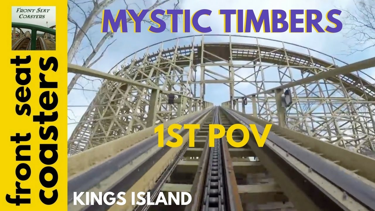 Mystic timbers roller coaster 1st on ride pov at kings island new opens april 15th