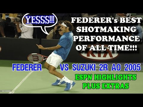 Federer's Best Shotmaking Match Of All Time! ● Suzuki 2R AO 2005 Highlights