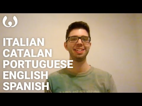 WIKITONGUES: Maxi speaking Spanish, English, Portuguese, Catalan and Italian