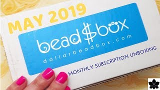 MAY 2019 Dollar Bead Box and Bag | Monthly Beaded Jewelry Making Subscription Unboxing