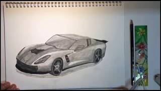 C7 stingray speed drawing