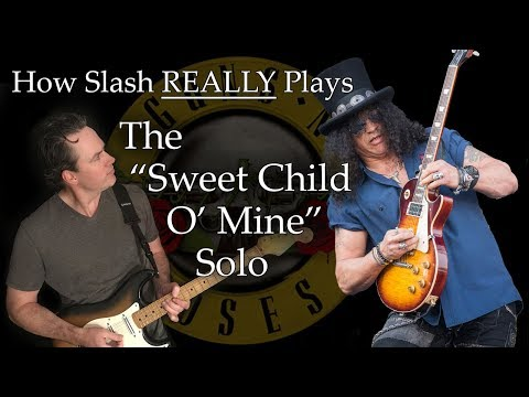 How Slash REALLY Plays The Sweet Child O' Mine Solo! – Guns N' Roses