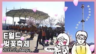 이월드 별빛벚꽃축제 현장, 국내최대높이 자이로드롭ㅎㄷㄷ…