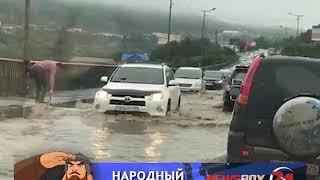 «Бассейн» на Рудневском мосту стал причиной автомобильной пробки
