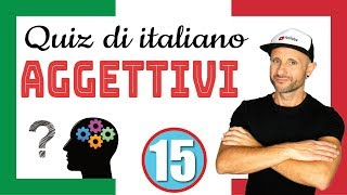 ITALIAN QUIZ: ADJECTIVES - Italian Listening & Comprehension Excercise [Video in slow Italian]