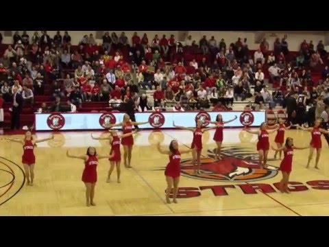Fairfield University Dance Team Performs - Men's Basketball vs New Hampshire - March 16, 2016