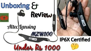 Altec Lansing MZW100 BT Earphone Unboxing and Review Best Bluetooth headphone under Rs 1000