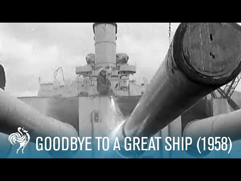 Goodbye To A Great Ship: HMS Duke of York (1958) | British Pathé