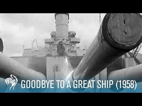 Goodbye To A Great Ship Hms Duke Of York 1958 British Pathe
