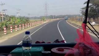 Dhaka Chittagong Highway Road Overtaking by Hanif Enterprise - হানিফ এন্টারপ্রাইজের ওভারটেকিং