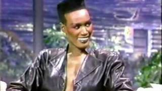 Grace Jones On Johnny Carson - 1985
