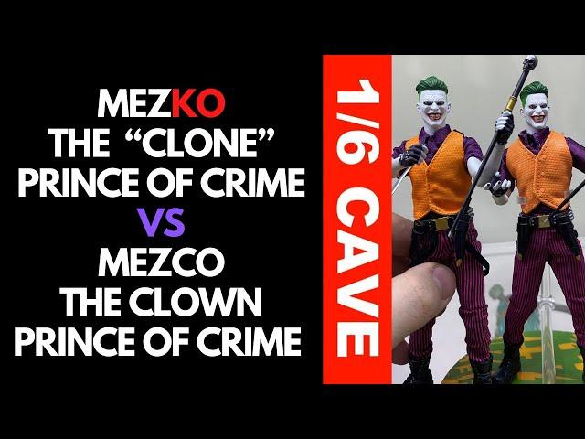Mezco Clown Prince Of Crime VS MezKO Clone Prince of Crime