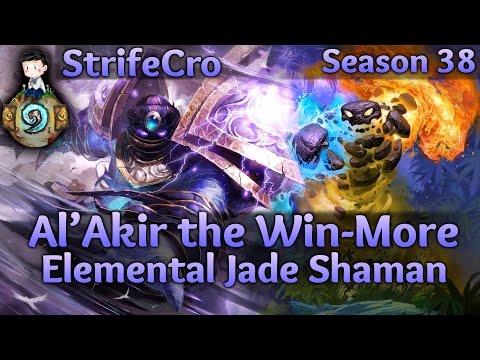 Hearthstone Elemental Jade Shaman: Al'Akir the Win-More