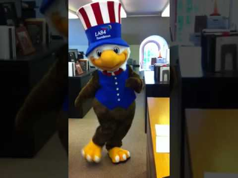 Sam Eagle, the 1984 Los Angeles Olympics mascot
