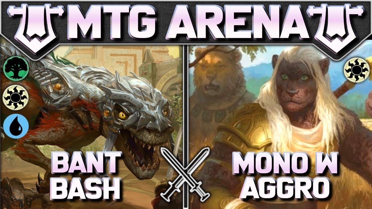 Jolt - MTG Arena Singleton - Bant Bash vs Mono White Aggro