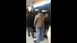 angry black woman vs mexican guy at church s chicken