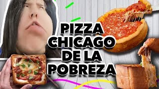 PIZZA CHICAGO DE LA POBREZA. EXPECTATIVA/REALIDAD
